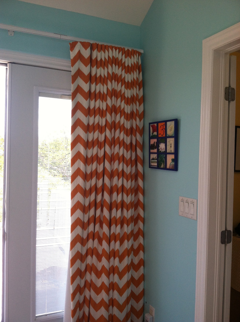 Long drapes with vertical pleats