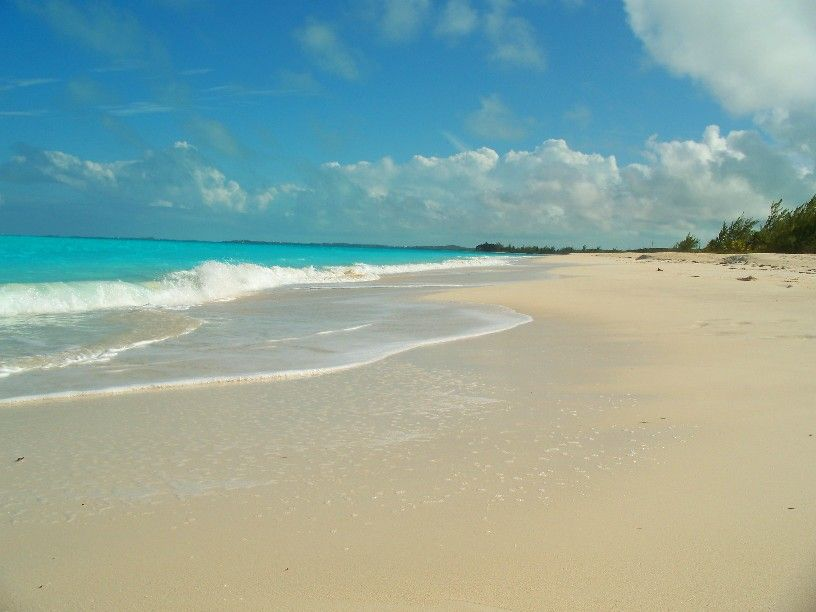 Bahamas beach, bright, sunny, no people