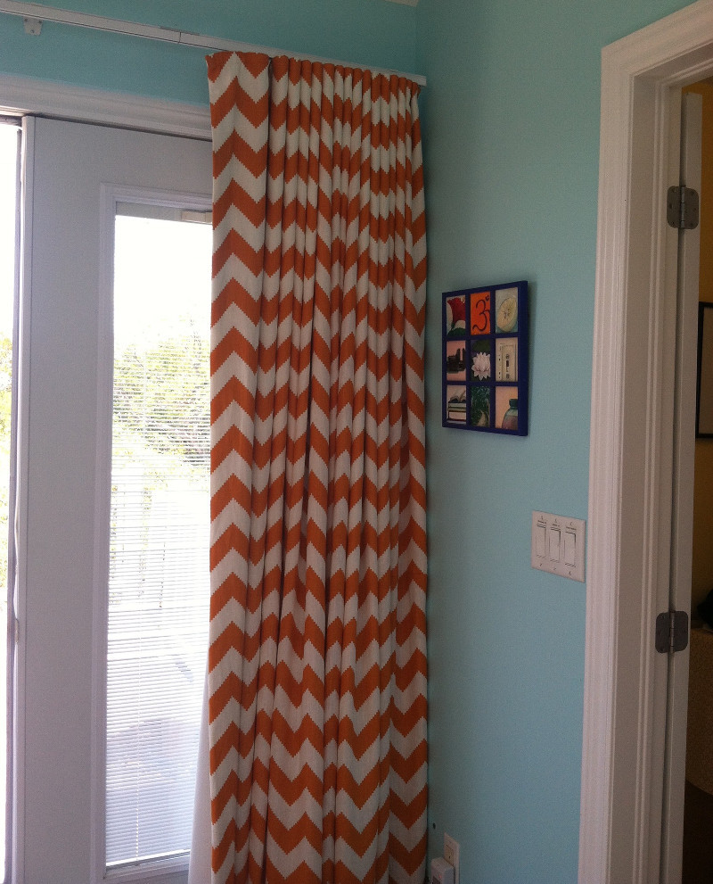 Striped ripple fold drapes